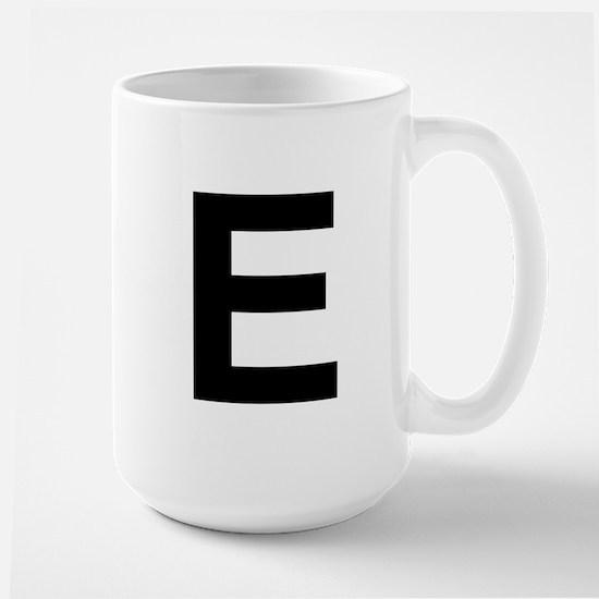 E Helvetica Alphabet Large Mug