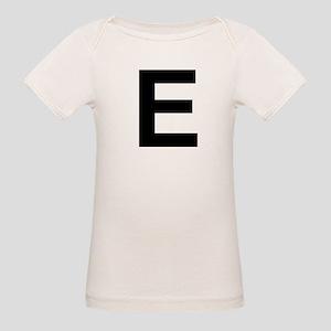 E Helvetica Alphabet Organic Baby T-Shirt
