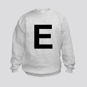 E Helvetica Alphabet Kids Sweatshirt