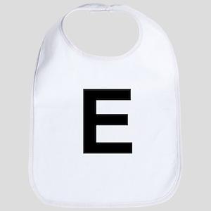 E Helvetica Alphabet Bib
