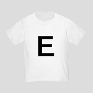 E Helvetica Alphabet Toddler T-Shirt