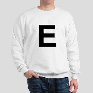 E Helvetica Alphabet Sweatshirt