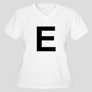 E Helvetica Alphabet Women's Plus Size V-Neck T-Sh
