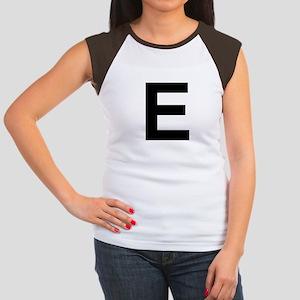 E Helvetica Alphabet Women's Cap Sleeve T-Shirt