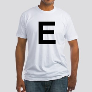 E Helvetica Alphabet Fitted T-Shirt