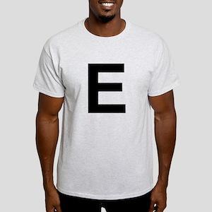 E Helvetica Alphabet Light T-Shirt