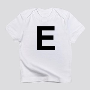 E Helvetica Alphabet Infant T-Shirt