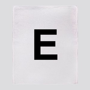 E Helvetica Alphabet Throw Blanket