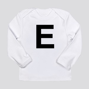 E Helvetica Alphabet Long Sleeve Infant T-Shirt