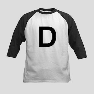 D Helvetica Alphabet Kids Baseball Jersey