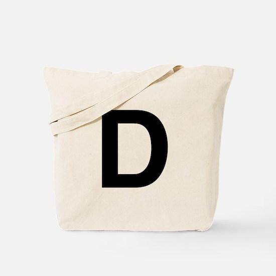 D Helvetica Alphabet Tote Bag