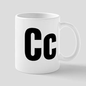 C Helvetica Alphabet Mug