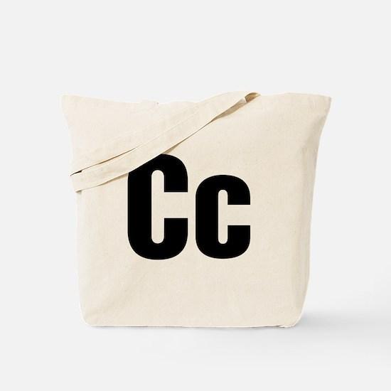 C Helvetica Alphabet Tote Bag