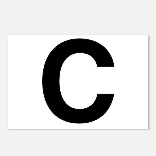 C Helvetica Alphabet Postcards (Package of 8)