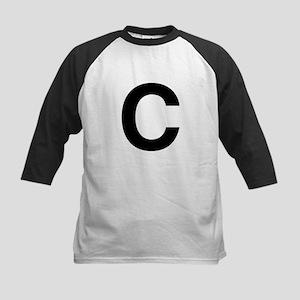 C Helvetica Alphabet Kids Baseball Jersey