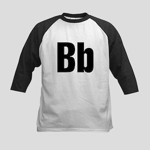 B Helvetica Alphabet Kids Baseball Jersey