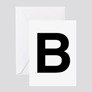 B Helvetica Alphabet Greeting Card