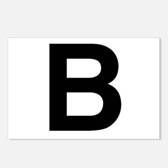 B Helvetica Alphabet Postcards (Package of 8)