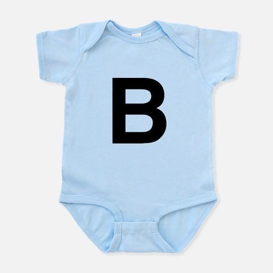 B Helvetica Alphabet Infant Bodysuit