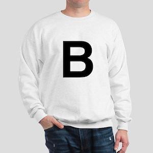 B Helvetica Alphabet Sweatshirt