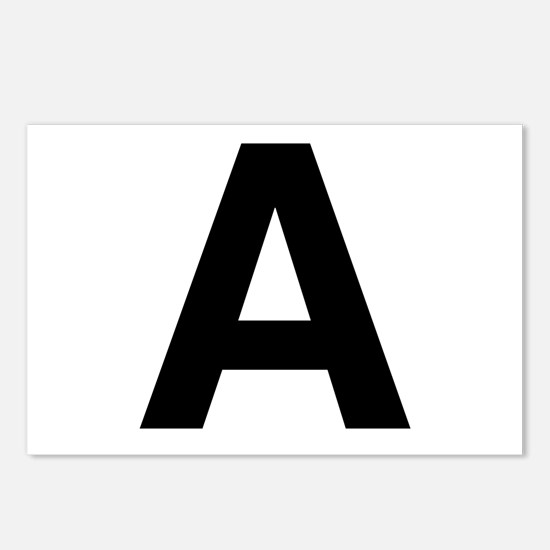 A Helvetica Alphabet Postcards (Package of 8)