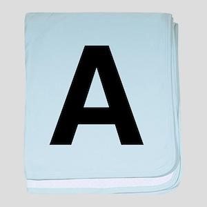 A Helvetica Alphabet baby blanket