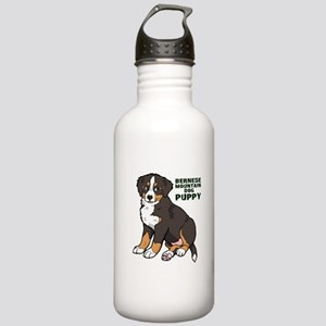 Sitting Bernese Mountain Dog Stainless Water Bottl
