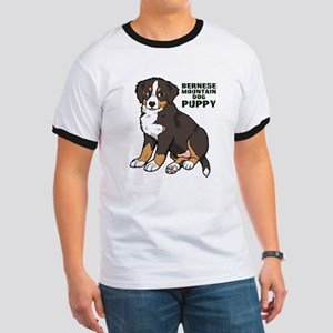 Sitting Bernese Mountain Dog Ringer T