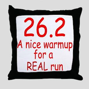 A Real Run Throw Pillow