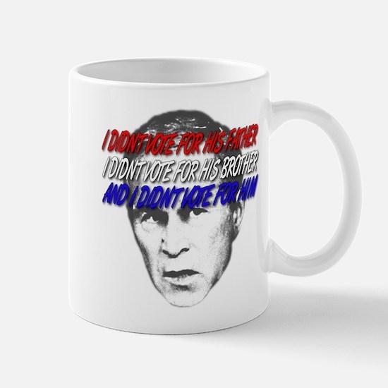 I didn't vote Bush Mug