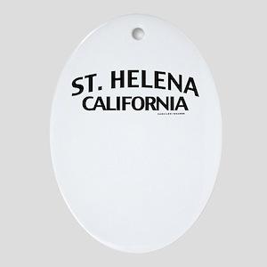 St Helena Ornament (Oval)