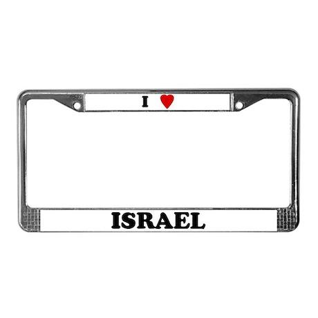 I Love Israel License Plate Frame