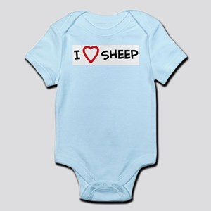 I Love Sheep Infant Creeper