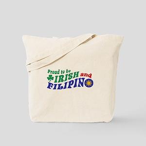 Proud to be Irish and Filipino Tote Bag