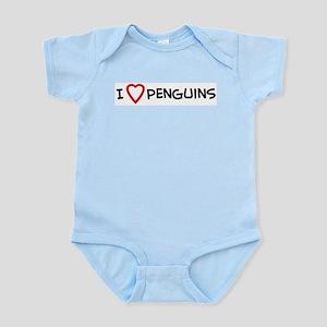 I Love Penguins Infant Creeper