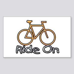 Ride On Sticker (Rectangle)