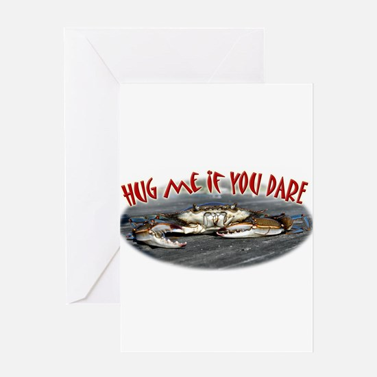 Hug me if you dare Greeting Card