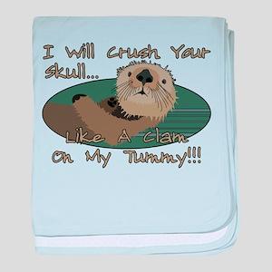 Otter Skull Crush baby blanket