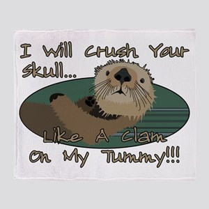 Otter Skull Crush Throw Blanket