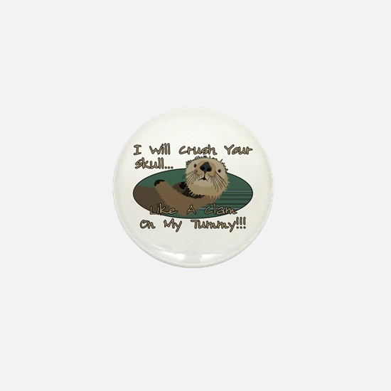 Otter Skull Crush Mini Button