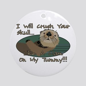 Otter Skull Crush Ornament (Round)