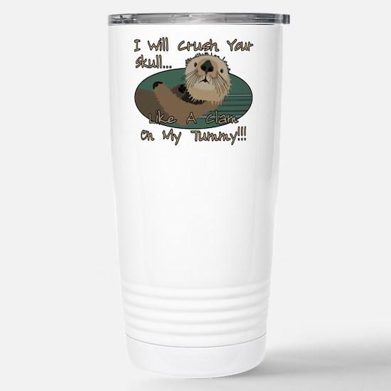 Otter Skull Crush Stainless Steel Travel Mug