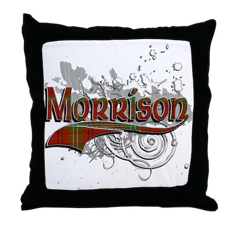 Morrison Tartan Grunge Throw Pillow
