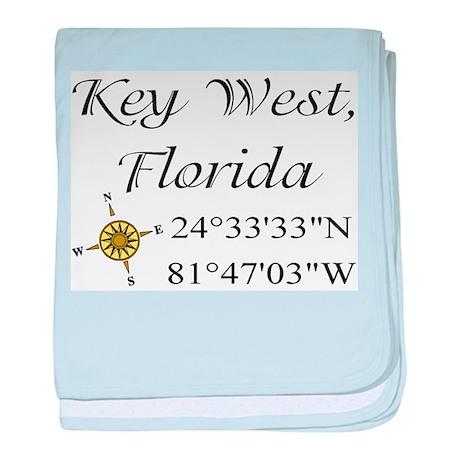 Geocaching Key West, Florida baby blanket