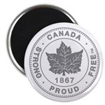 Canadian Pride STRONG & FREE Magnet