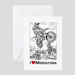 I love Motocross gifts Greeting Card