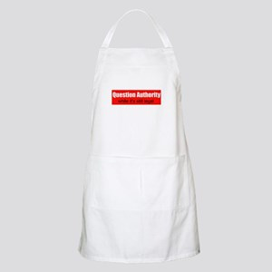 Question Authority - while it BBQ Apron