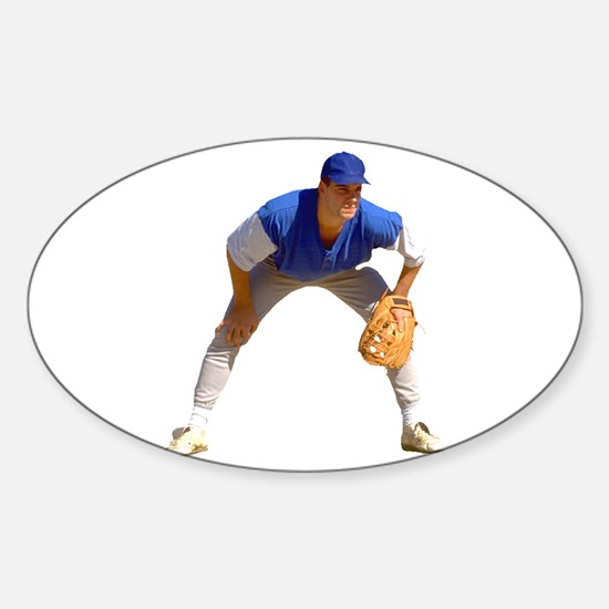 Baseball Player Oval Decal