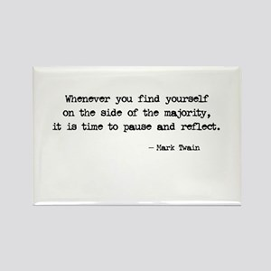 Pause and Reflect Rectangle Magnet
