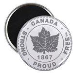 "Canadian Pride STRONG & FRE 2.25"" Magnet (10 pack)"